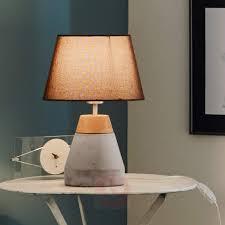 in concrete lighting. Beautiful Concrete Stylish Tarega Fabric Table Lamp Concrete Base303181901 On In Concrete Lighting