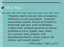 academic integrity a teacher s guide to addressing the issue of  nfa pilot students shall avoid any form of academic dishonesty on any assessment