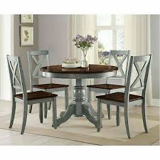 details about farmhouse dining table set rustic round dining room kitchen tables and chairs