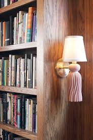 library lighting. Pink And Brass Tassel Sconce Library Lighting