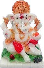 art n hub marble look hindu god shri ganesh statue lord ganesha