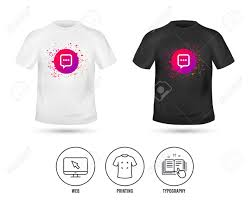 Communication T Shirt Design T Shirt Mock Up Template Chat Sign Icon Speech Bubble With