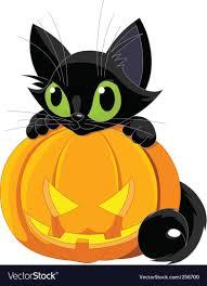 halloween black cat. Fine Halloween Halloween Black Cat Vector Image Throughout Black Cat A