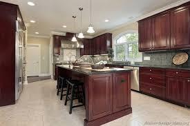 Dark Cherry Kitchen Island Kitchen Design Ideas