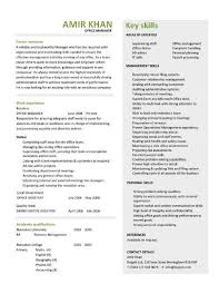 Office Manager Resume Template Office Manager Cv Sample Download