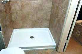 how to build a custom shower pan cost to install tile shower pan replace fiberglass shower