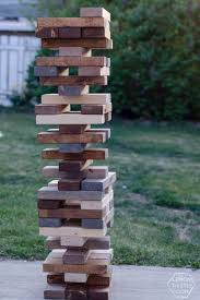 Lawn Game With Wooden Blocks Cool 32 DIY Lawn Games You Should Play This Summer Jenga Tutorials