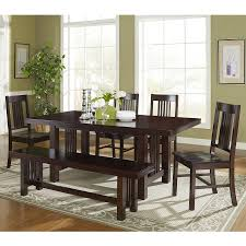 dining table price in usa. walker edison meridian cappuccino 6-piece dining set with table price in usa i