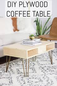 diy plywood coffee table erin spain