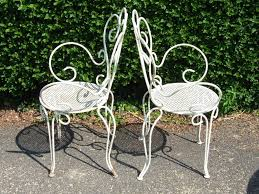 white iron patio furniture. 12 Inspiration Gallery From Popular Vintage Wrought Iron Patio Furniture White N