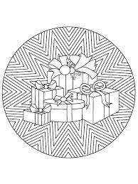 Kerstmis Mandala Cadeautjes Kleurplaat Jouwkleurplaten