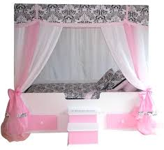 Full Size Princess Canopy Bed Interesting Pink With Bedding Home ...