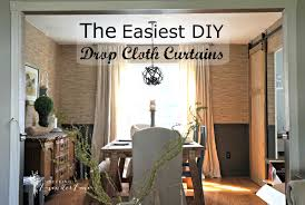 Paint Drop Cloth Curtains Washing Painted Drop Cloth Curtains Curtain Menzilperdenet