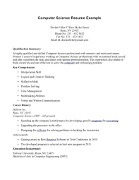 Computer Science Resume Skills Free Download For Puter Student Lvn ...