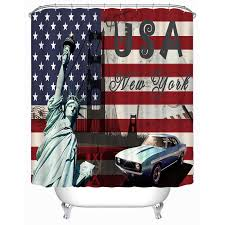 72x72 inch completely polyester colormix car series shower curtains with 12 rings bidor