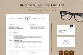 Designer Resume Templates Classic Resume Business Card Set Resume Templates Creative Graphic 62