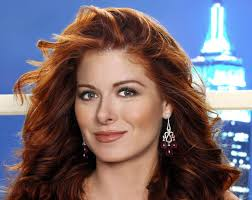 debra messing shows that choosing red hair can look gorgeous if you are already gorgeous