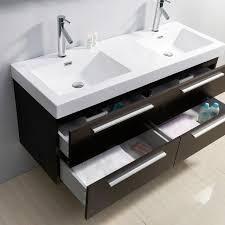 54 inch bathroom vanity double sink. virtu usa finley 54 inch double sink wenge bathroom vanity .