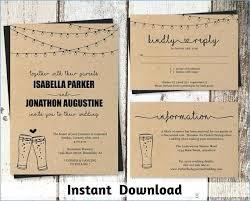 5 X 7 Wedding Invitation Template Illustrator Traditional Style