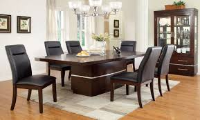 Furniture of America CM3130T Dark Cherry Dining Table with Chairs Set