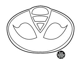 Pj Masks Coloring Pages Black And White Fresh Pj Masks Logo Black