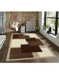 carpet 5x7. 5x7 8x10 beige brown white new modern contemporary geometric vegas blocks hand-carved area rug carpet