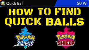 Pokemon Sword And Shield Quick Balls Location - YouTube