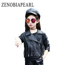 girls jackets fashion kids leather jacket girls pu jacket tasse children leather outwear girl jackets and
