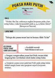Puasa rajab adalah puasa sunnah pada bulan rajab, satu dari empat bulan yang dimuliakan oleh allah swt (bulan haram). Fateh Team Tarikh Tarikh Puasa Putih Sunat Bidh Facebook
