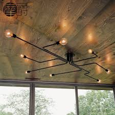 coffee shop lighting. Loft Iron Art Creative Ceiling Light For Bar Coffee Shop Counter Retro Antique Lighting Fixture D