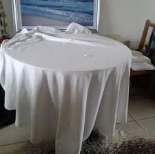 white round table cloth cotton 205cm