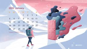 Open new year January 2020 Calendar ...