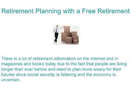 Free Retirement Calculator Retirement Planning With A Free Retirement Calculator