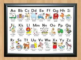 My Alphabet Chart Details About Silly Alphabet Poster Learn My Abc Chart Fun Children Educational A4 Photo Print