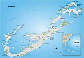 large detailed road and political map of bermuda bermuda large