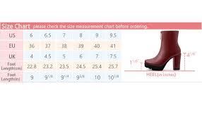 Allegra K Womens Platform Front Zip Chunky Heel Ankle Boots