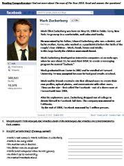 powerpoint biography english powerpoint mark zuckerberg biography all about me poster