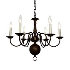 classic lighting classic williamsburg 24 in 6 light oil rubbed bronze williamsburg candle chandelier