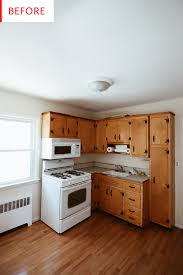 Painting Kitchen Cabinets Budget Remodel Before After Apartment