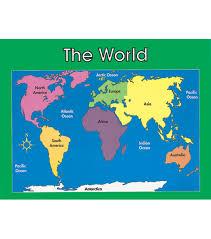 Carson Dellosa World Map Chart 6pk
