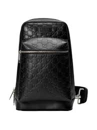 gucci gucci signature leather backpack