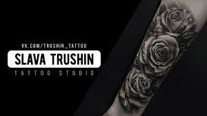 Slava Trushin Tattoo три розы на руке