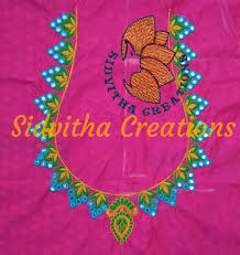 Computerized Embroidery Designs Free Download Sidvitha Creations Embroidery Neck Designs Computerized