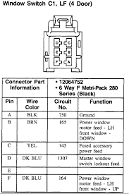 i need a wiring diagram for the master power window control switch is this what you are looking for