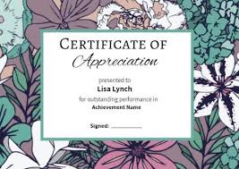 Certificates Of Appreciation 100 Certificate Of Appreciation Templates To Choose From