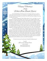 Holiday Letter 24 Holiday Letter White Iron Beach Resort 4
