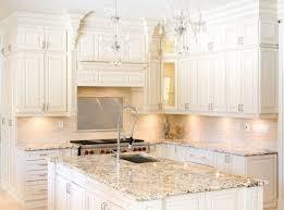 best neutral white kitchen cabinets granite countertops with chandelier