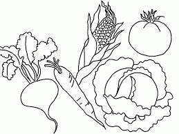 Small Picture Pictures Of Fruit And Vegetables Coloring Home