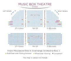 Wellmont Theater Seating Chart Music Box Theatre Seating Chart Dear Evan Hansen Broadway