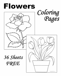 Flower coloring pages teach about science and nature in fun and visual ways. Flower Coloring Pages